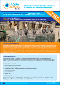 Front page of AQUAEXCELL training course leaflet